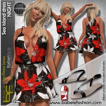 Vestito corto Sea island dress