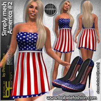 Vestito Corto Simply Mesh America