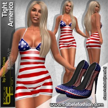 Vestitino corto tight America