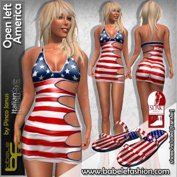 Micro vestito Open Left America