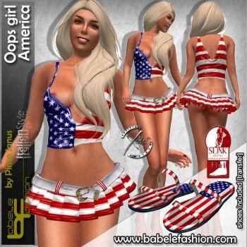 Completo con Minigonna Oops America
