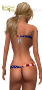 wrapped bikini america rear