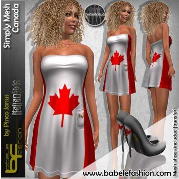 Vestito corto Simply Mesh Canada