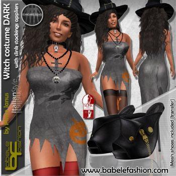 Costume da strega per halloween