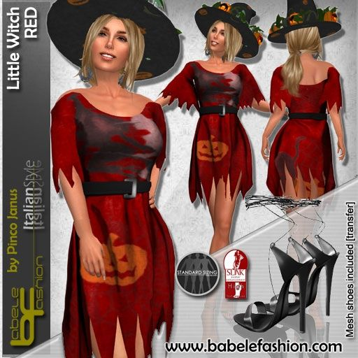 box LITTLE witch RED