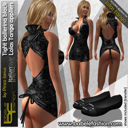box tight ballerina black lolas tango