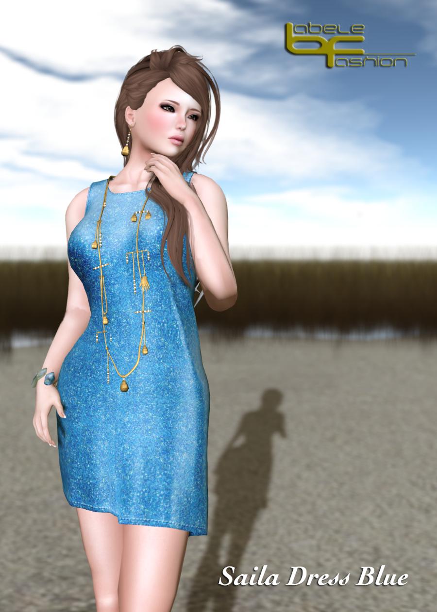 saila dress blue promo