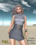 loretta minidress gray promo