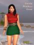 loretta minidress green promo