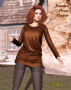 sweater dress copper promo