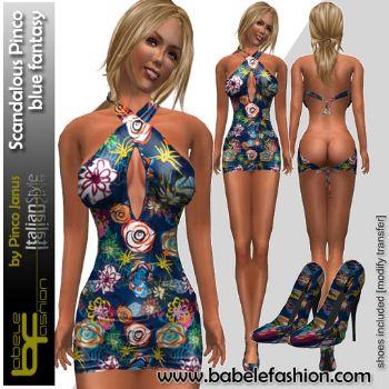 Micro abito a schiena nuda Scandalous Pinco